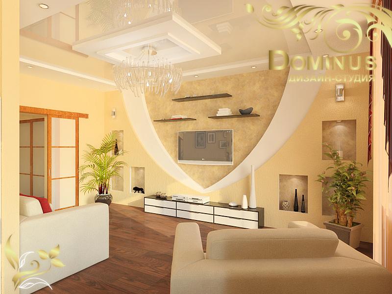 Дизайн комнаты бежевой