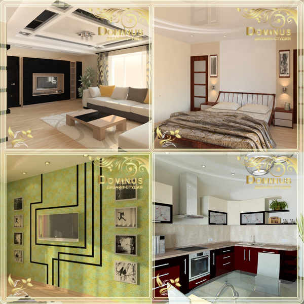 Дизайн проект квартиры, 105 кв.м. по ул. Старотовая 4