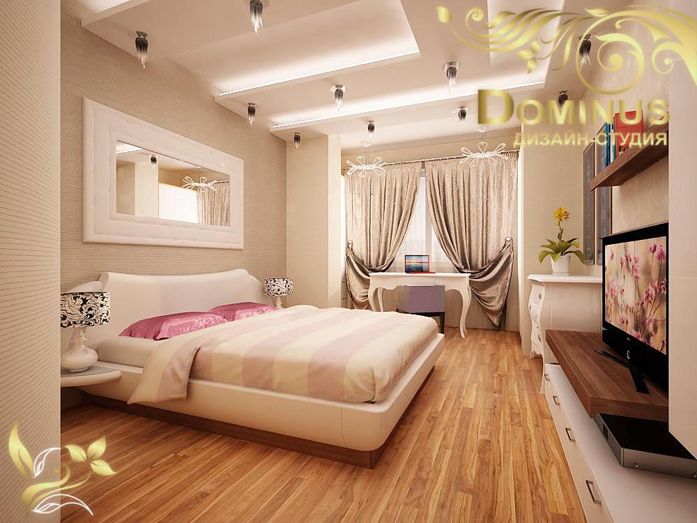 Дизайн двухкомнатной квартиры-студии